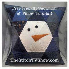 Free Friendly Snowman Pillow Tutorial!