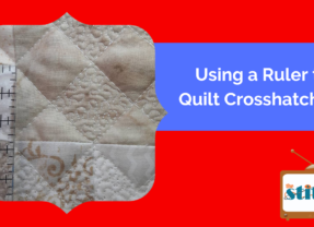 Mixing Ruler Work and Microstippling in a Quilt