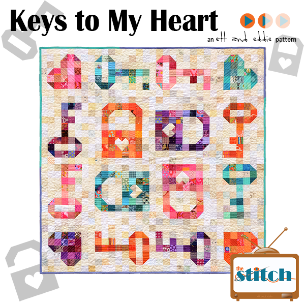 Keys to My Heart Quilt Pattern