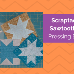 Pressing Sawtooth Star Quilt Blocks
