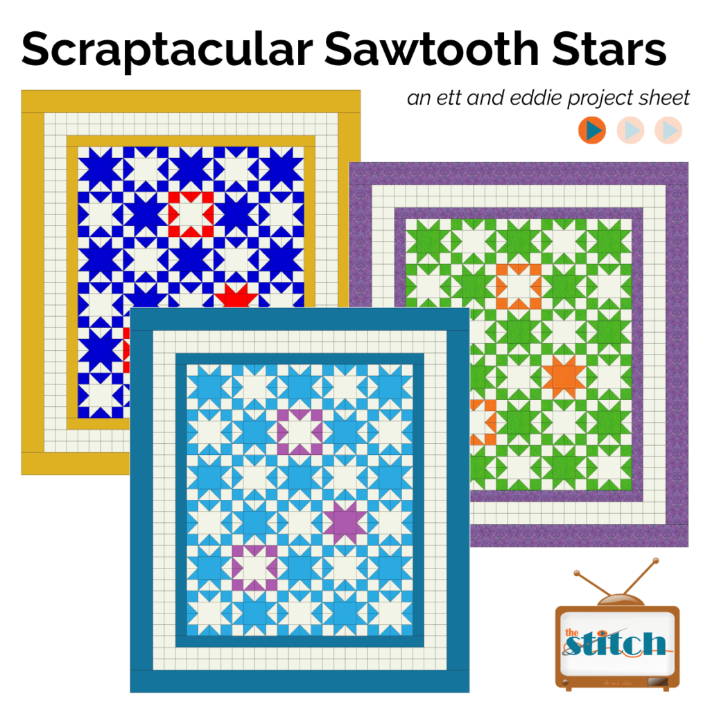 sawtooth star quilt pattern