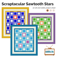 Introducing the Scraptacular Sawtooth Stars Quilt!