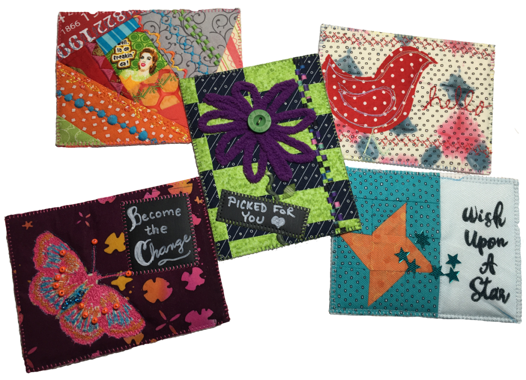 Quilted Fabric Postcards Online Course
