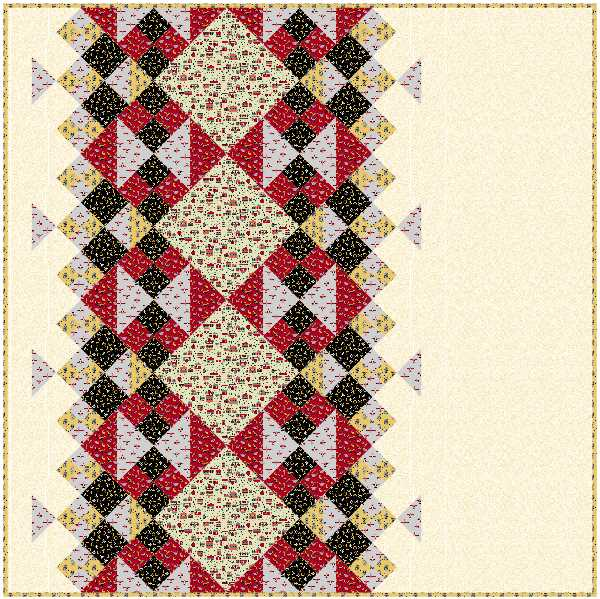 Emilio Quilt made with Retro Minis fabric from QT Fabrics