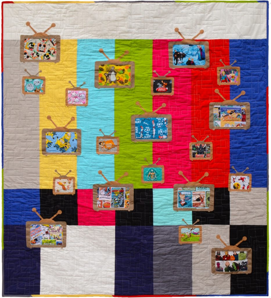 Saturday Morning Retro TV Applique Quilt
