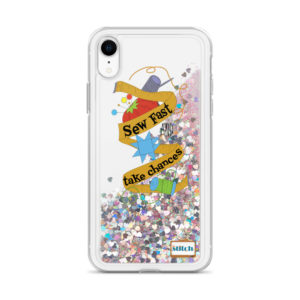 Sew Fast and Take Chances iPhone Glitter Case