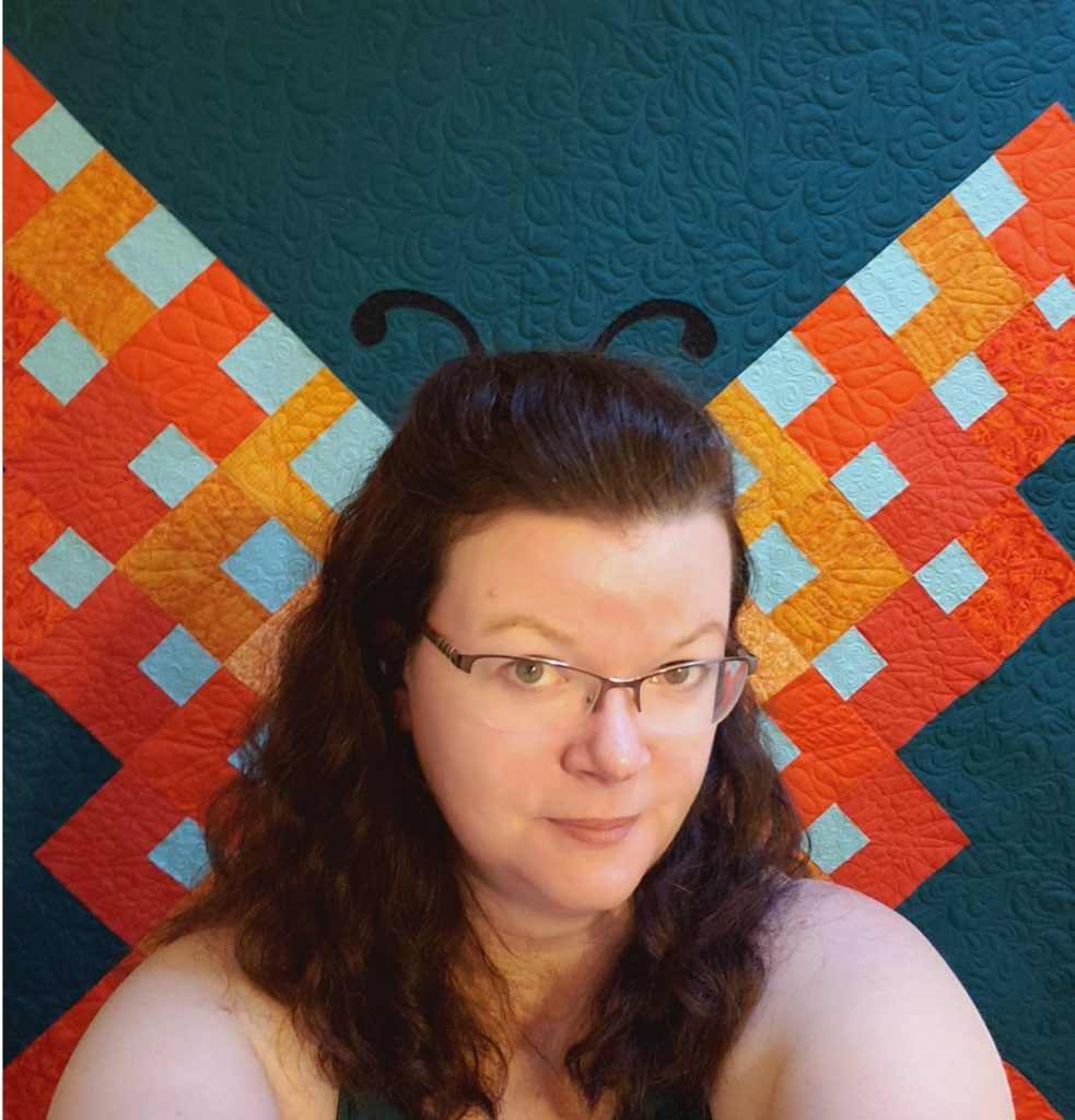 Flight of Fancy butterfly selfie quilt