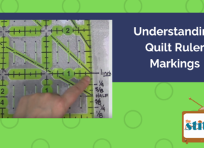 Quilt Ruler Markings for Beginning Quilters
